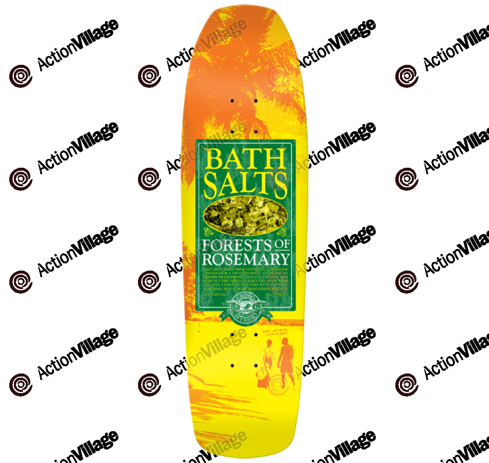 Anti-Hero Grosso Bathsalts Rose - Yellow/Green - 8.75 -Skateboard Deck
