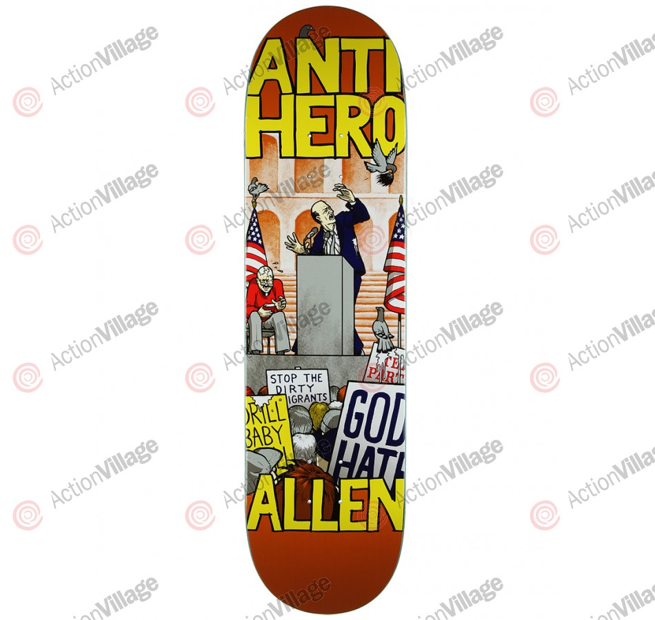 Anti-Hero Allen Pigeon Revenge - Orange/Yellow - 8.43 - Skateboard Deck
