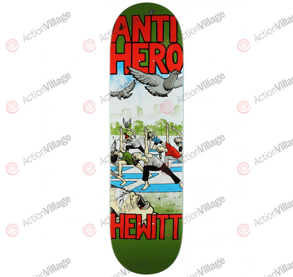 Anti-Hero Hewitt Pigeon Revenge - Green/Red - 8.62 - Skateboard Deck