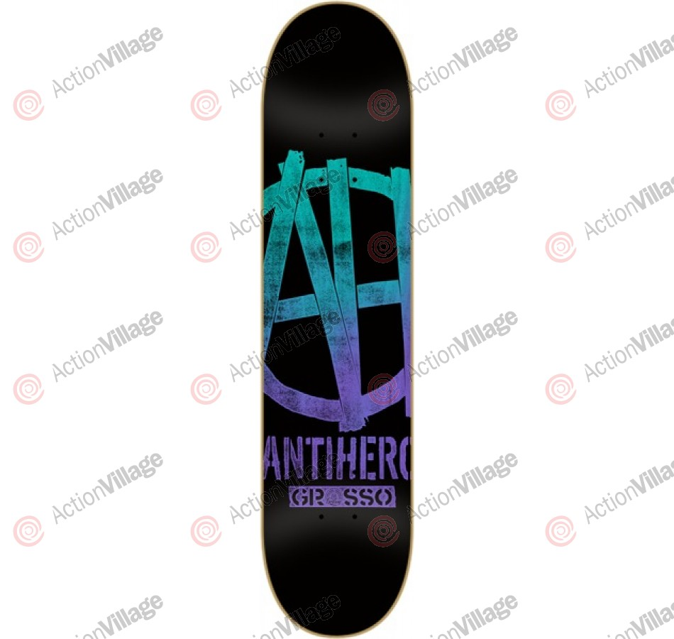 Anti-Hero grosso ah Xl - Black - 8.62 - Skateboard Deck