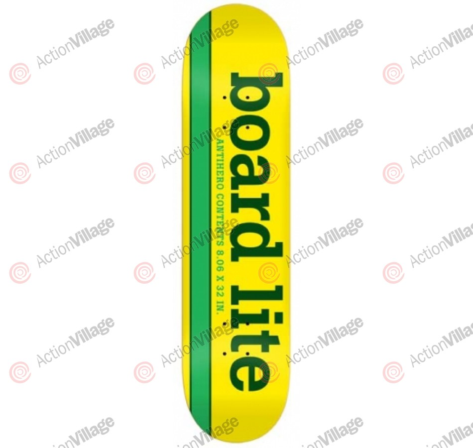 Anti-Hero Generic Yellow Board Lite - Yellow/Green - 8.06 - Skateboard Deck