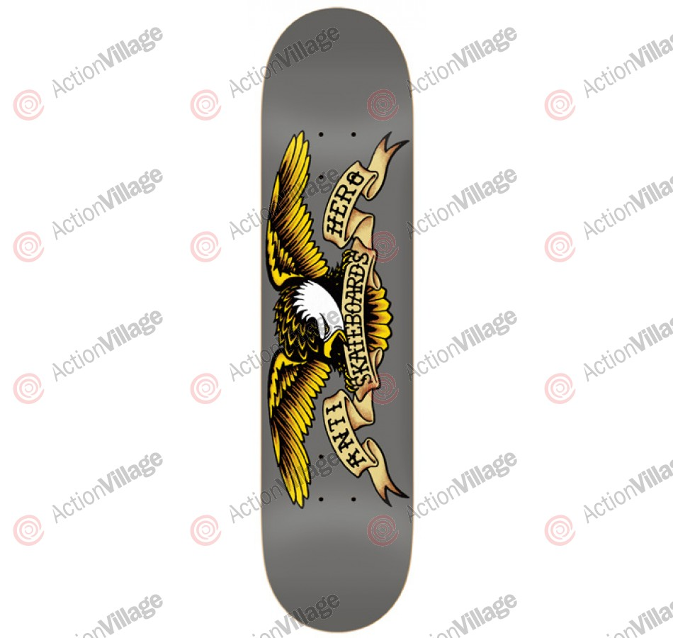 Anti-Hero Classic Eagle Larger -Grey/Yellow - 8.25 - Skateboard Deck