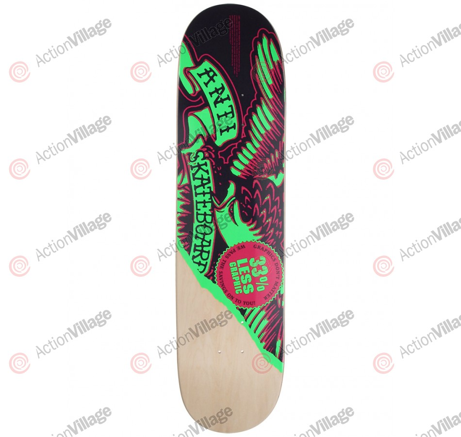 Anti-Hero Less Graphic Md - Purple/Green - 7.75 - Skateboard Deck