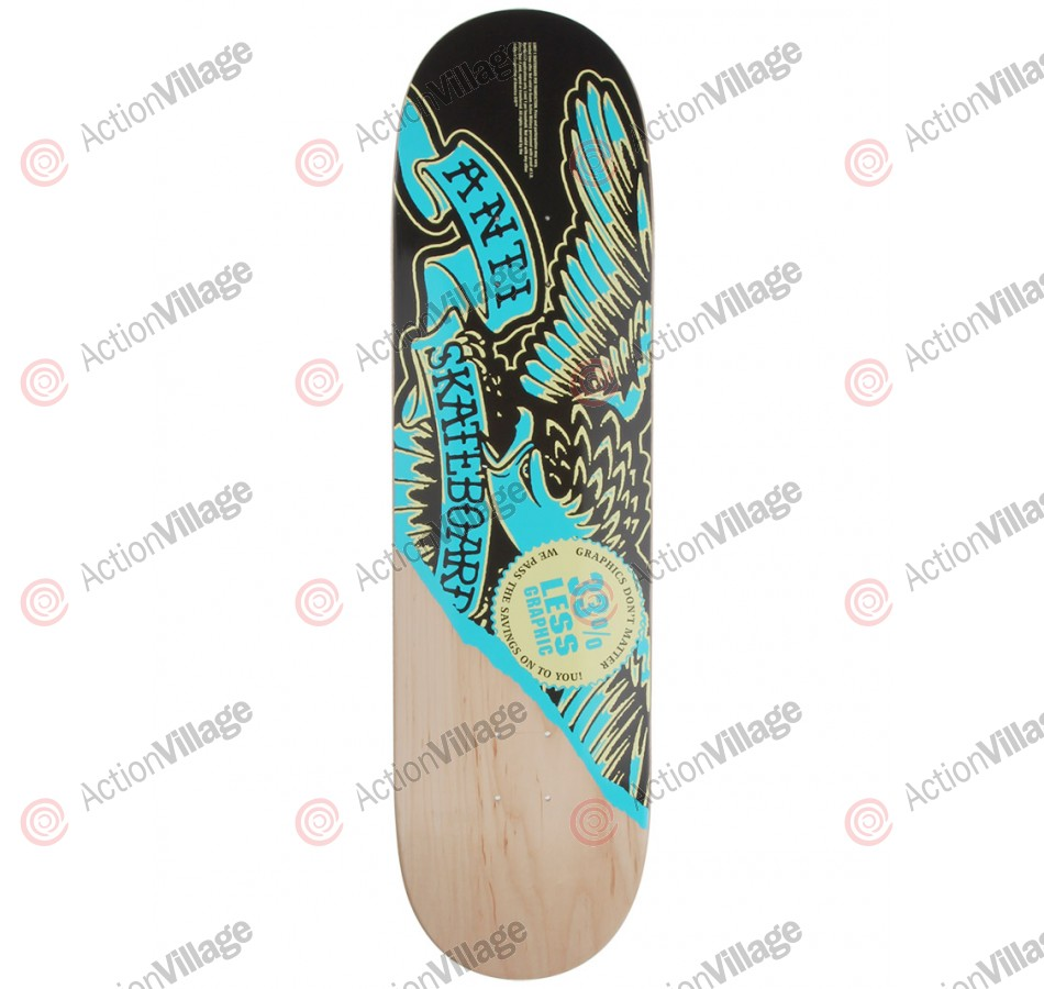 Anti-Hero Less Graphic Xlg - Black/Blue - 8.33 - Skateboard Deck