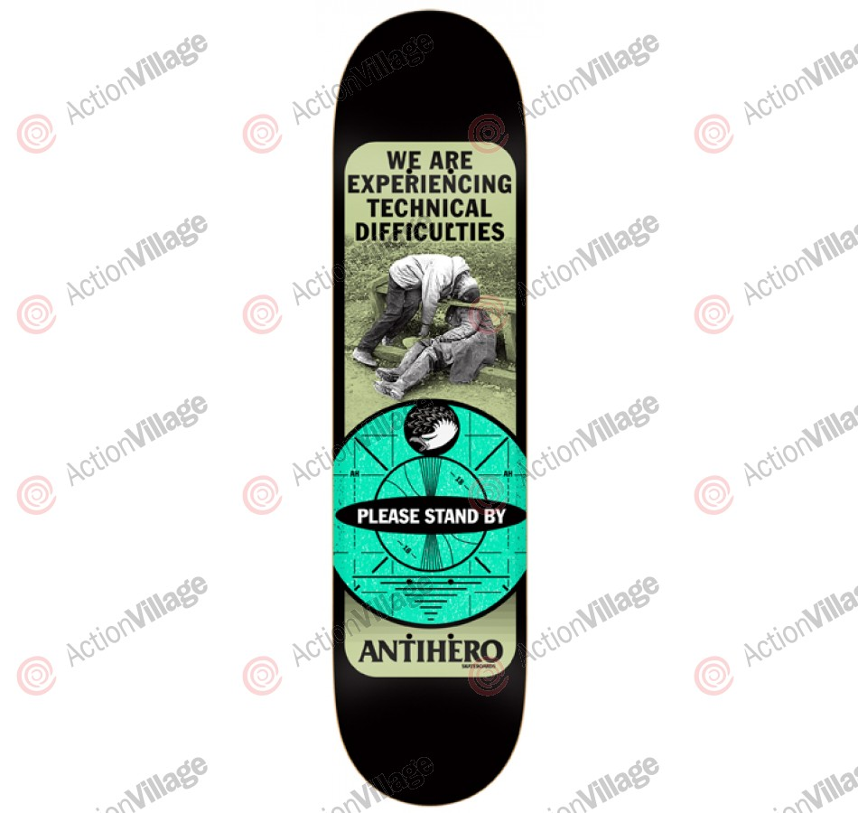 Anti-Hero Difficulties LG - Black - 8.38 - Skateboard Deck