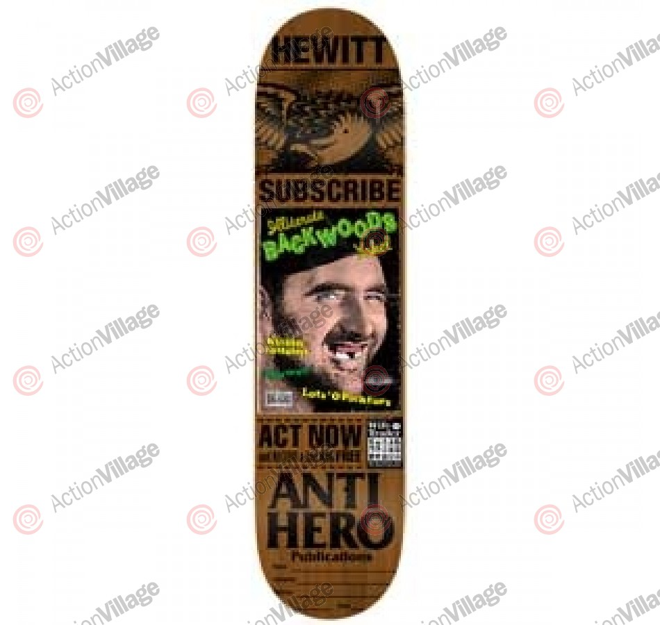 Anti-Hero Hewitt Issues - Brown - 8.43 - Skateboard Deck