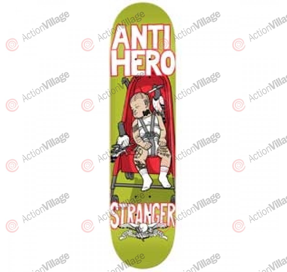 Anti-Hero Stranger One Eye Open - Green - 8.38 - Skateboard Deck