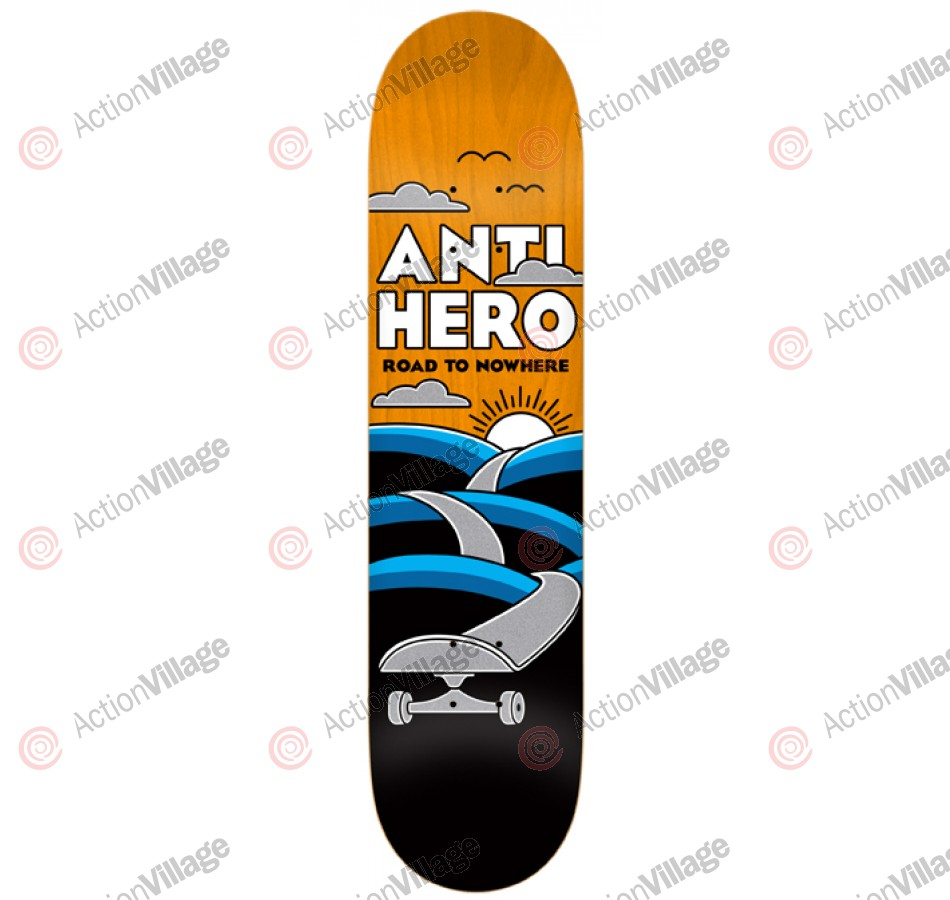 Anti-Hero Nowhere Large - Black/Orange - 8.5 - Skateboard Deck