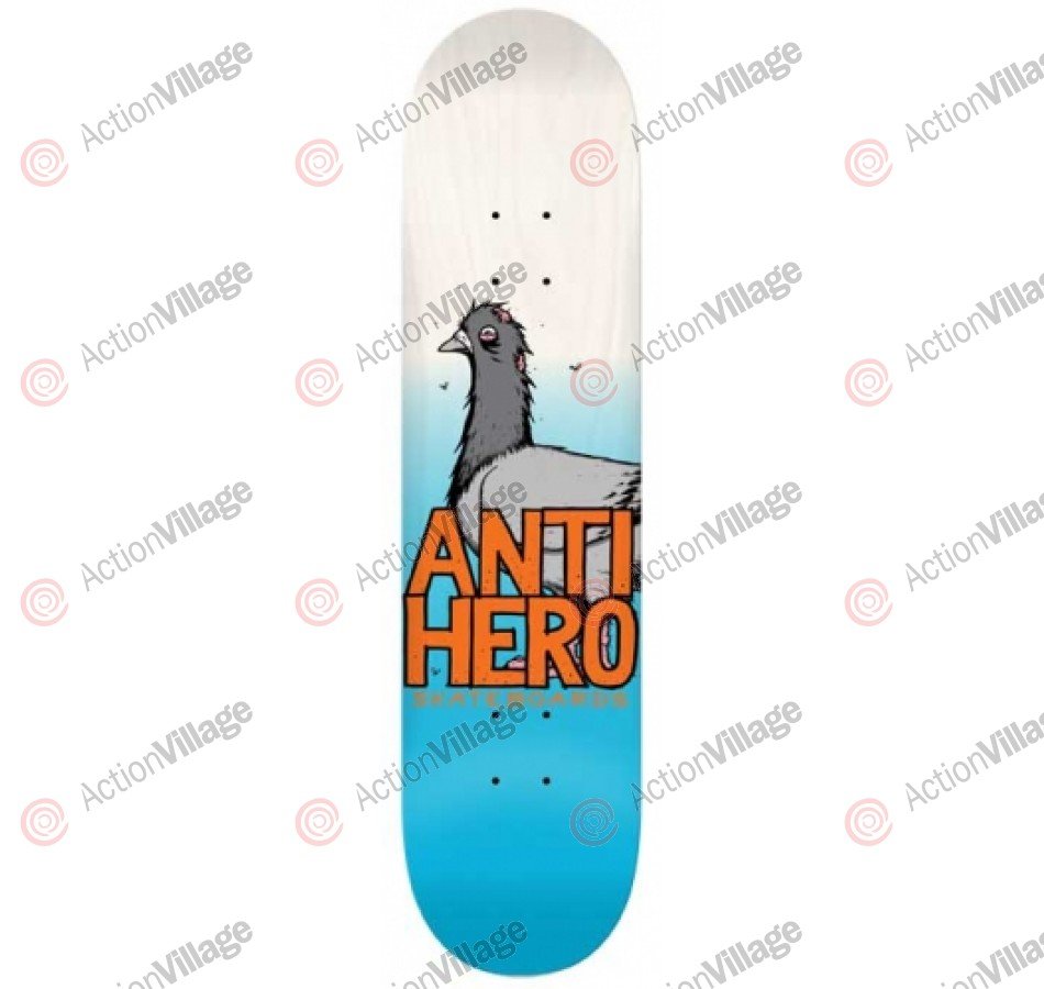 Anti-Hero More Pigeon Close Up Medium - Blue/White - 8.06 - Skateboard Deck