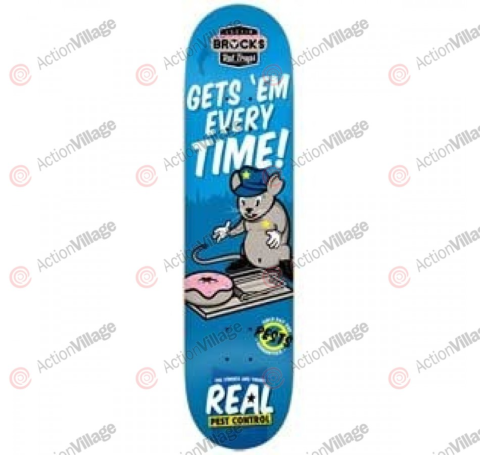 Real Brock Pest Control - Blue - 8 - Skateboard Deck