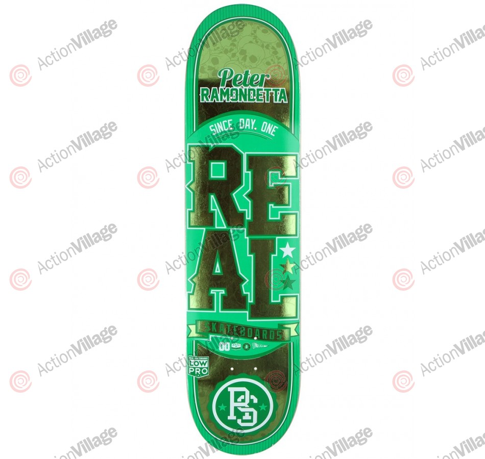 Real Ramondetta - Low - Pro Chrome - Green - 8.06 - Skateboard Deck