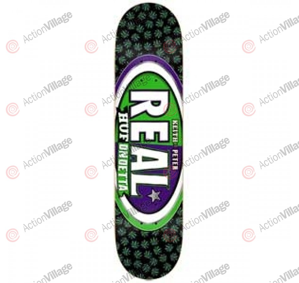 Real Huf/Ramondetta MashUp -Black/Green - 8.25 - Skateboard Deck