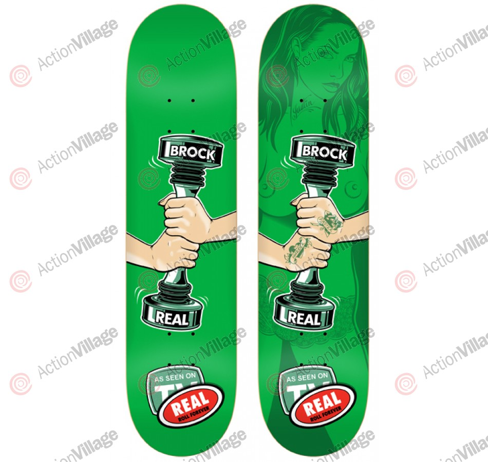 Real Brock Weight Lg - Green - 8.38 - Skateboard Deck