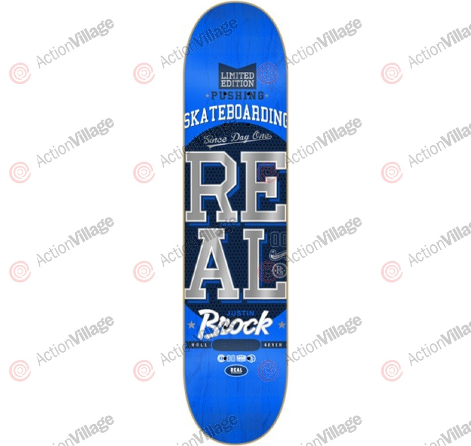 Real Brock Pushing LTD - Blue - 8.38 - Skateboard Deck