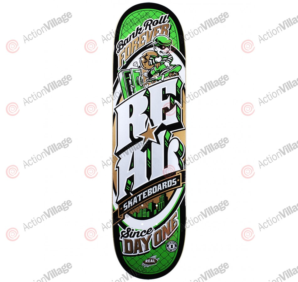 Real Lottoreal Bankroll LG - Green - 8.38 - Skateboard Deck
