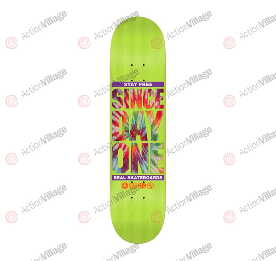 Real SDO Tie Dye - Lime - 8.5 - Skateboard Deck