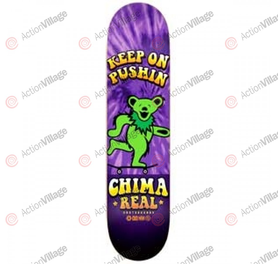Real Ferguson Keep On Pushin - Purple - 8.18 - Skateboard Deck
