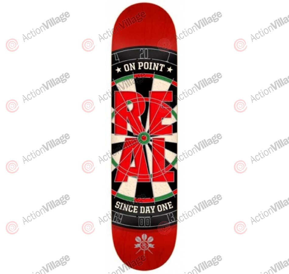 Real On Point Medium - Red - 8.02 - Skateboard Deck