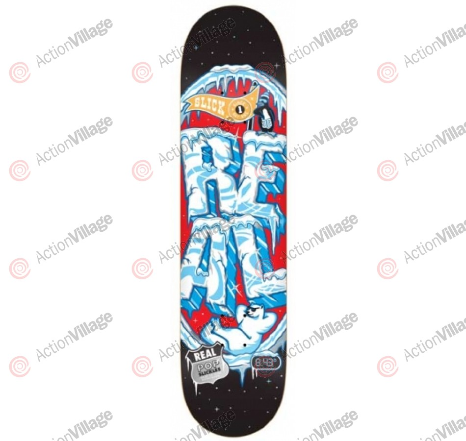 Real Popslickles II Extra Large - Black/Red - 8.43 - Skateboard Deck