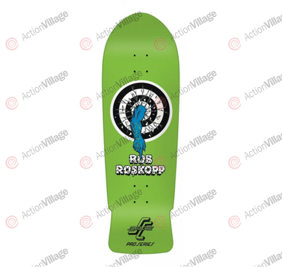 Santa Cruz Skate Rob Target 1 Green Reissue 31.4 in 10 in - Skateboard Deck