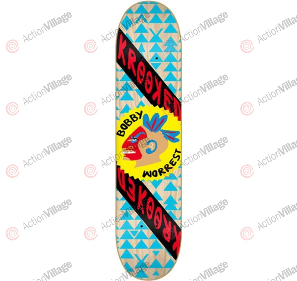 Krooked Worrest Worrpath - Brown/Blue - 8.12 - Skateboard Deck