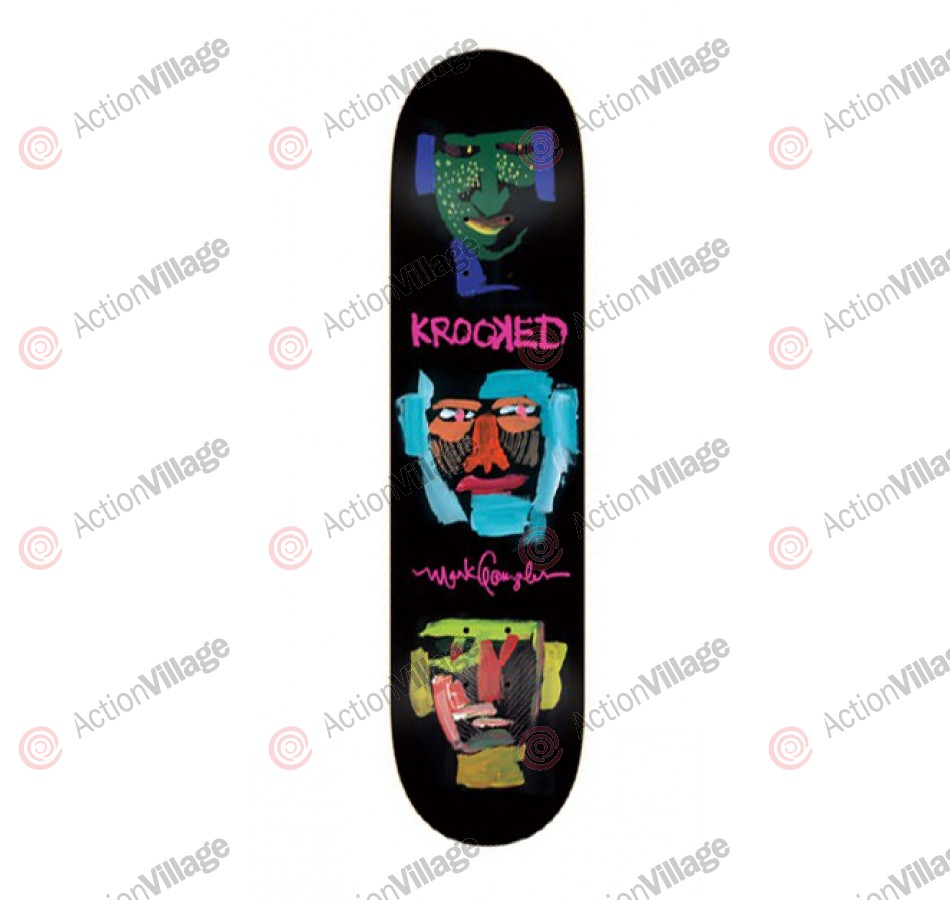 Krooked Gonz 3face - Black - 8.18 - Skateboard Deck