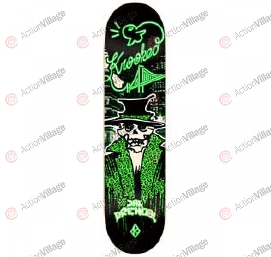 Krooked Drehobl Skelepimp - Black/Green - 8.38 - Skateboard Deck