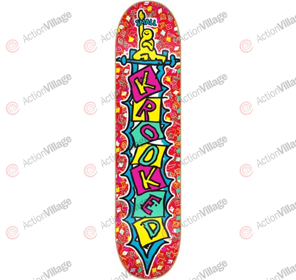 Krooked Verti-K Sm - Red - 7.81 - Skateboard Deck