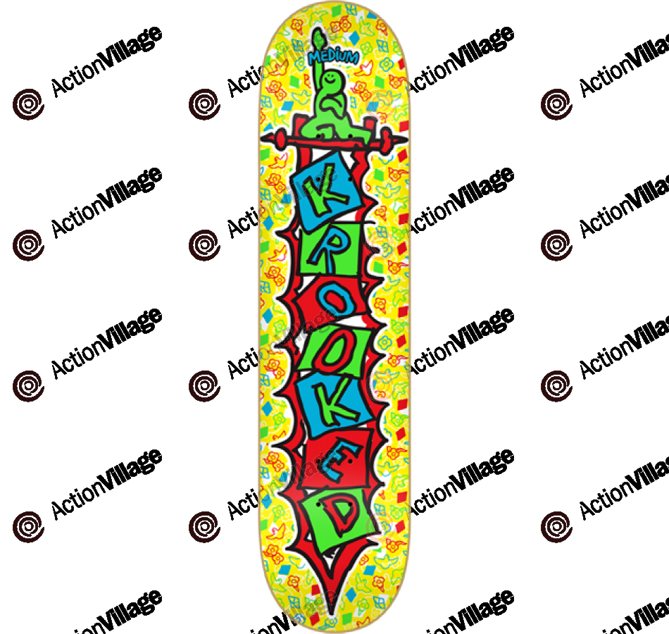 Krooked Verti-K Md - Yellow - 8.06 - Skateboard Deck