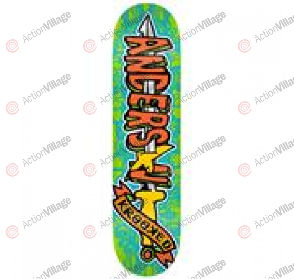 Krooked Anderson Swordid - Green/Orange - 8.38 - Skateboard Deck