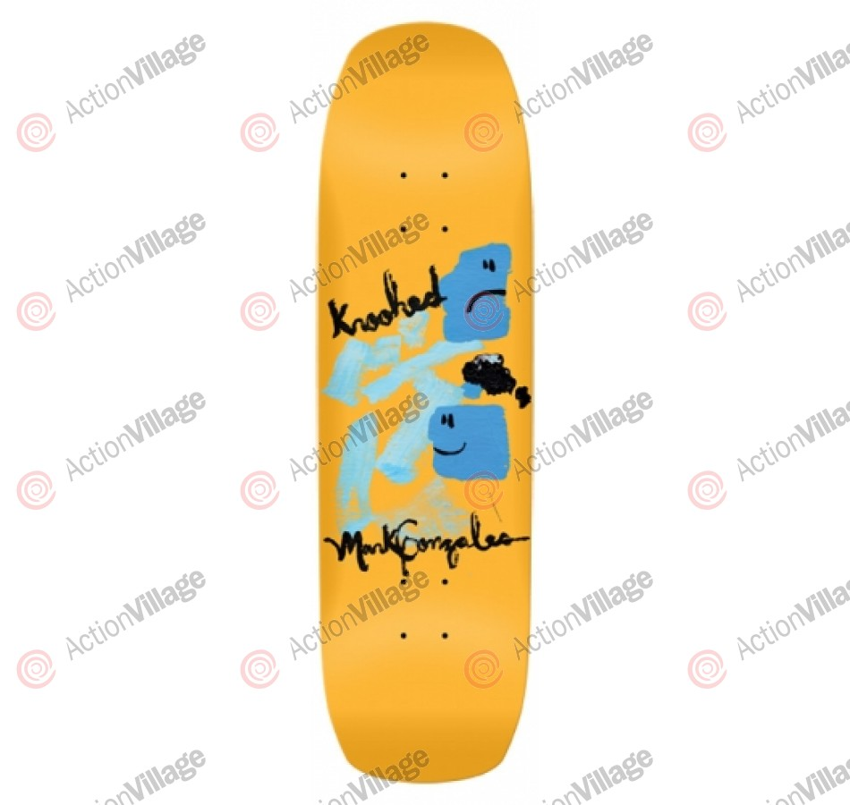 Krooked Goz Blue Face Barney - Orange - 9 - Skateboard Deck