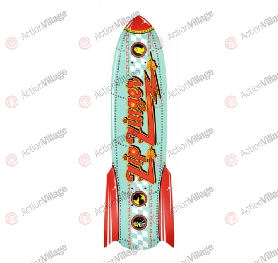Krooked Zip Zinger Rocket - Red/Teal - 7.21 - Skateboard Deck