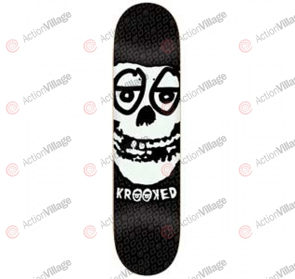 Krooked Krimson Large - Black - 8.25 - Skateboard Deck