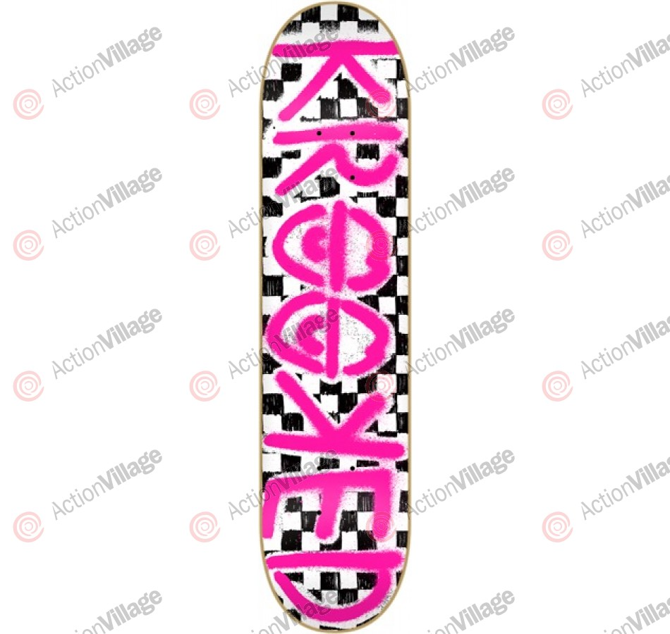 Krooked Checked Out PP Medium - 8.06 - Skateboard Deck