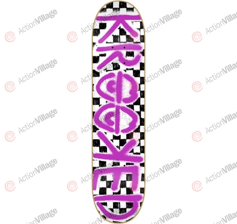 Krooked Checked Out PP Extra Large - 8.5 - Skateboard Deck