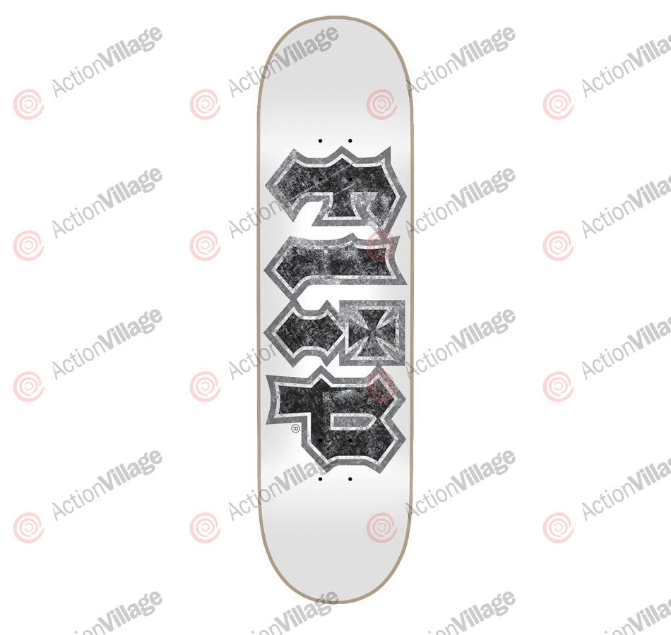 Flip Team Thrashed White 32.2 in 8 in - Skateboard Deck