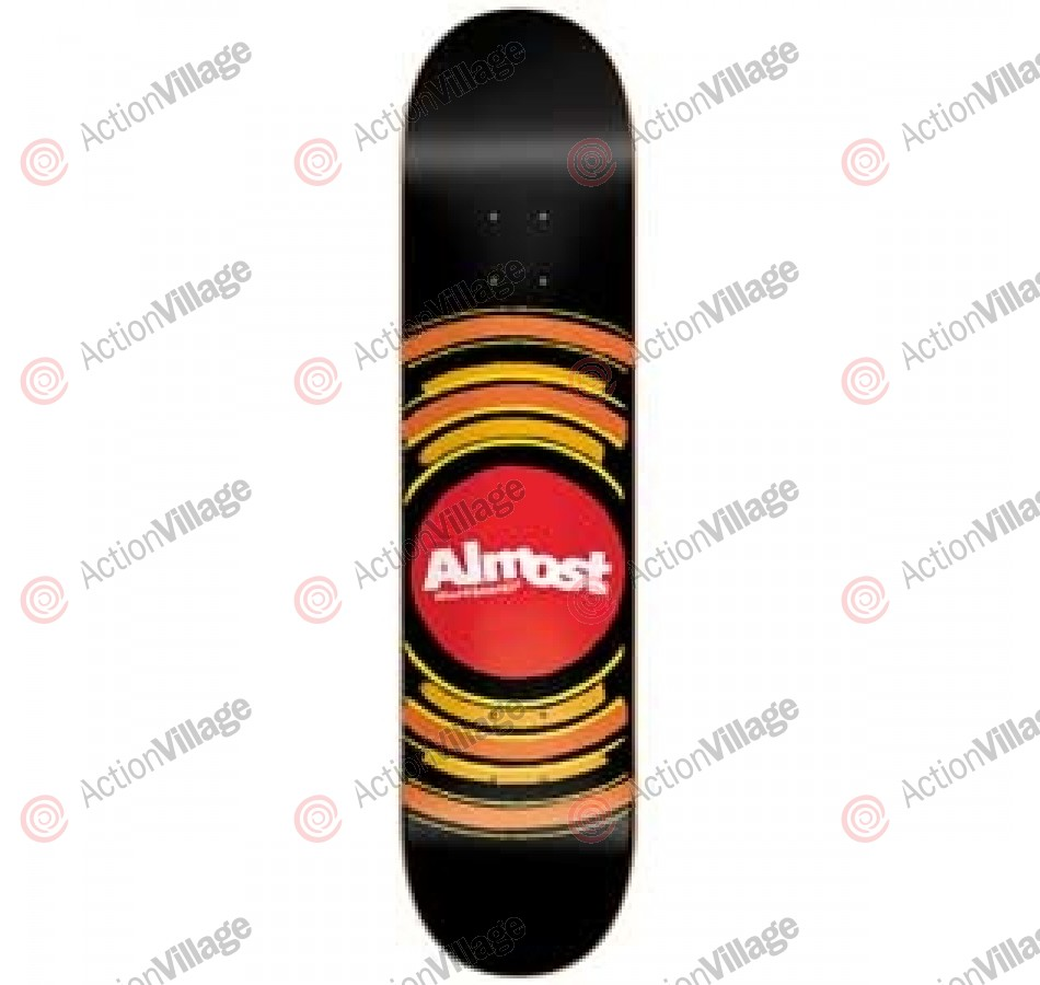 Almost Sonic Boom R7 - Black/Red - 8.1 - Skateboard Deck