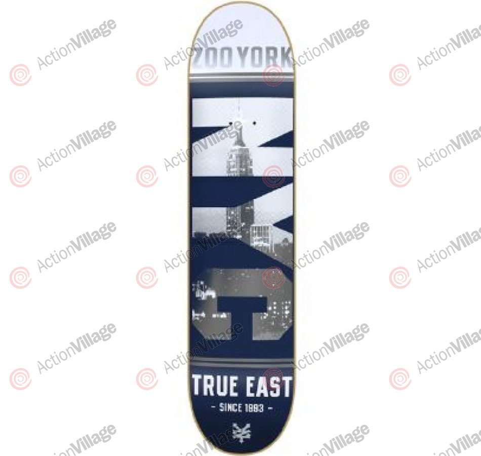 Zoo York NYC Block Bomber Blue - Blue - 7.75 - Skateboard Deck