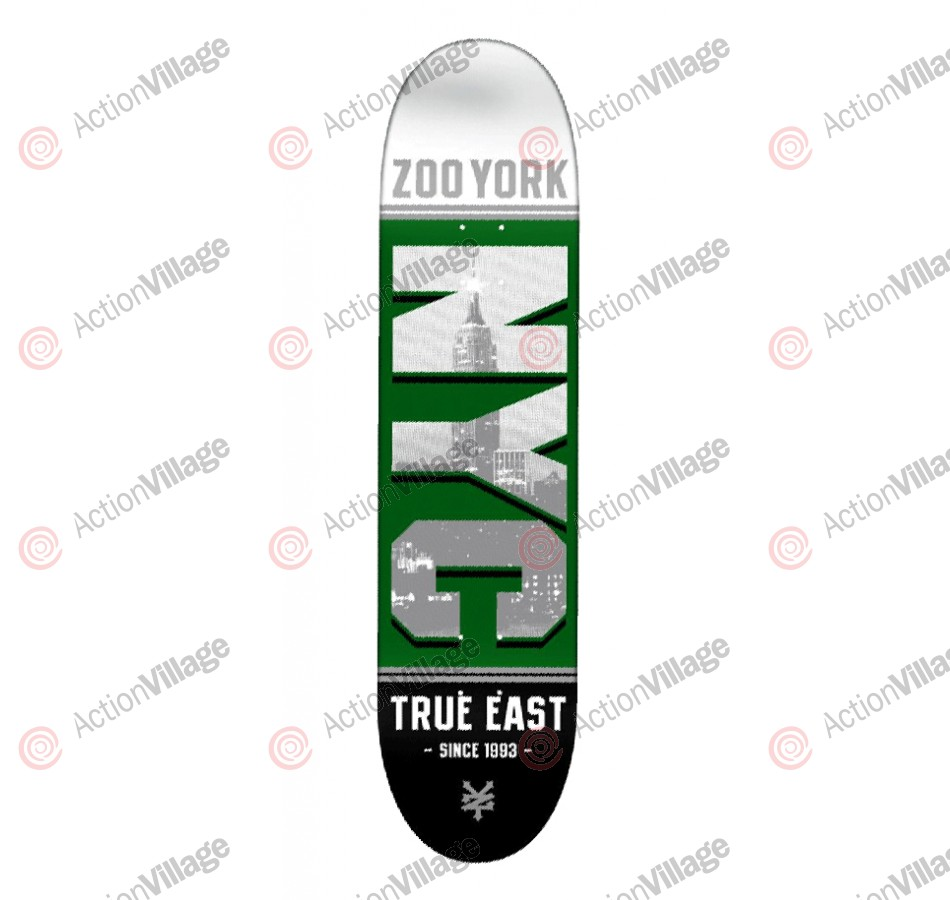 Zoo York Block NYC Gang Green - Green - 8.0 - Skateboard Deck