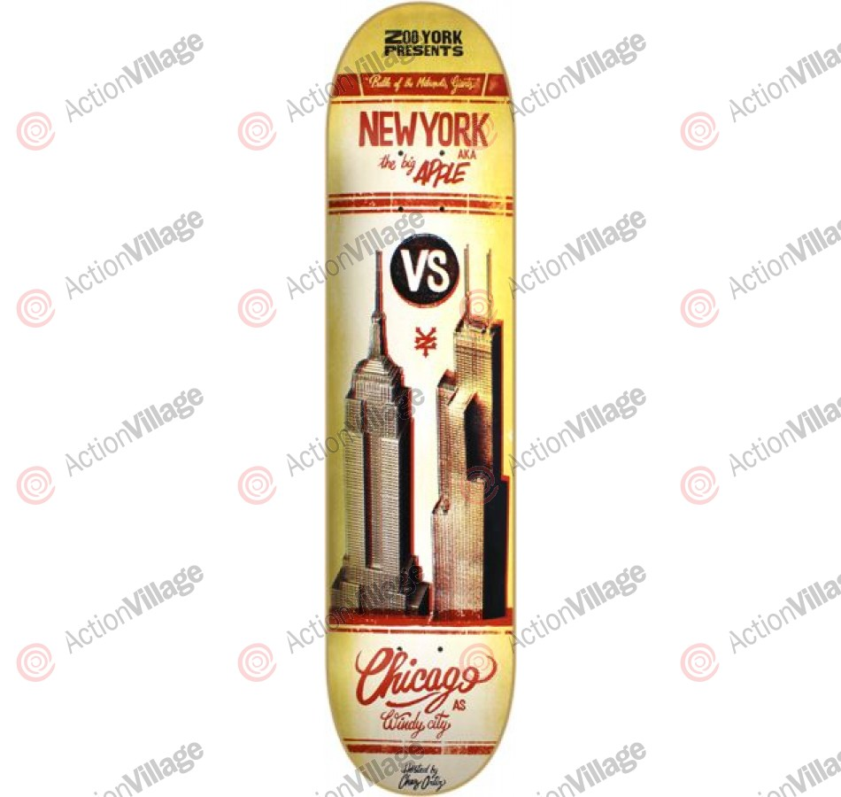 Zoo York Ortiz Battle - Brown - 8.0 - Skateboard Deck