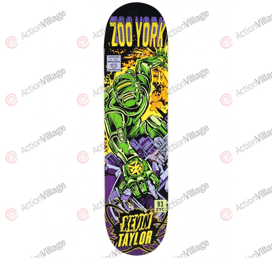 ZooYork Taylor Halker Pro Series - Green/Purple - 8.0 - Skateboard Deck