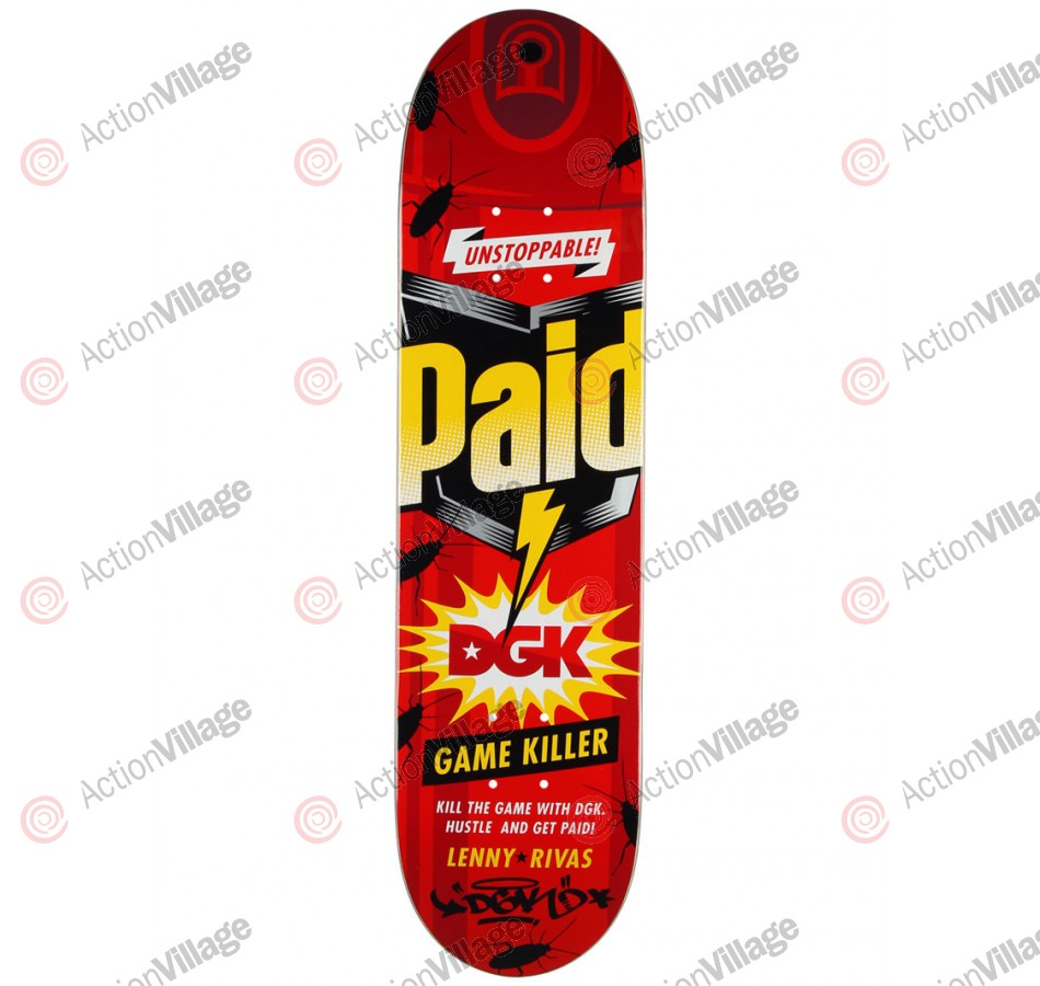 DGK Rivas Paid - Red - 7.9 - Skateboard Deck