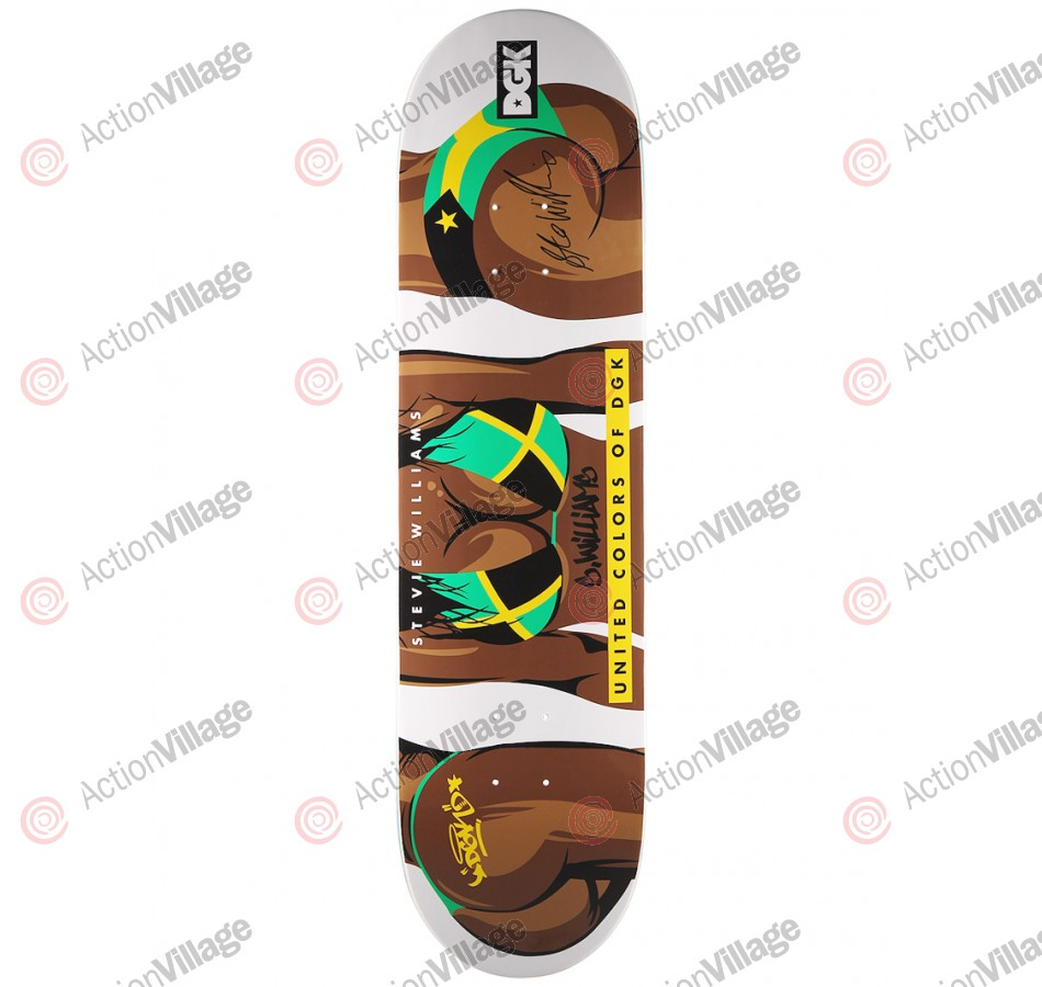 DGK Williams United Colors - White - 8.1 - Skateboard Deck