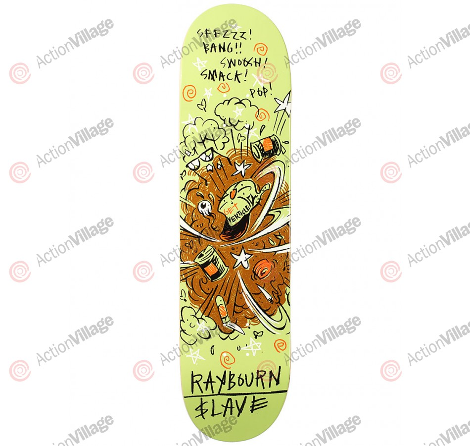 Slave Raybourn Dust Devil - White - 8.0 - Skateboard Deck