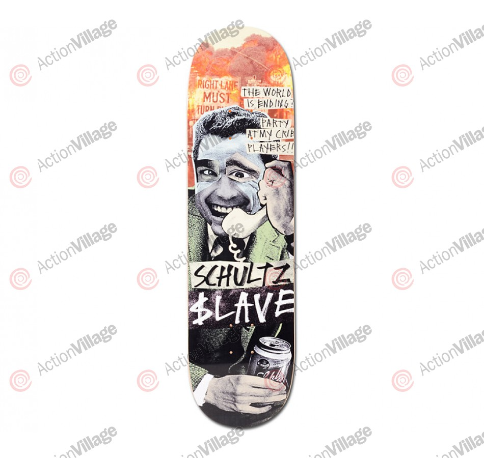 Slave Schultz End of the World - Black/Green/Orange - 8.25 - Skateboard Deck