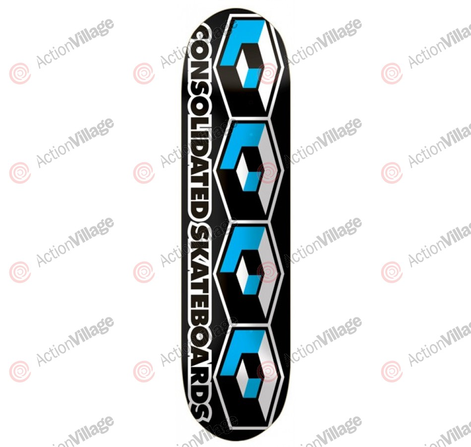 Consolidated 4 Cube - Black - 8.0 - Skateboard Deck