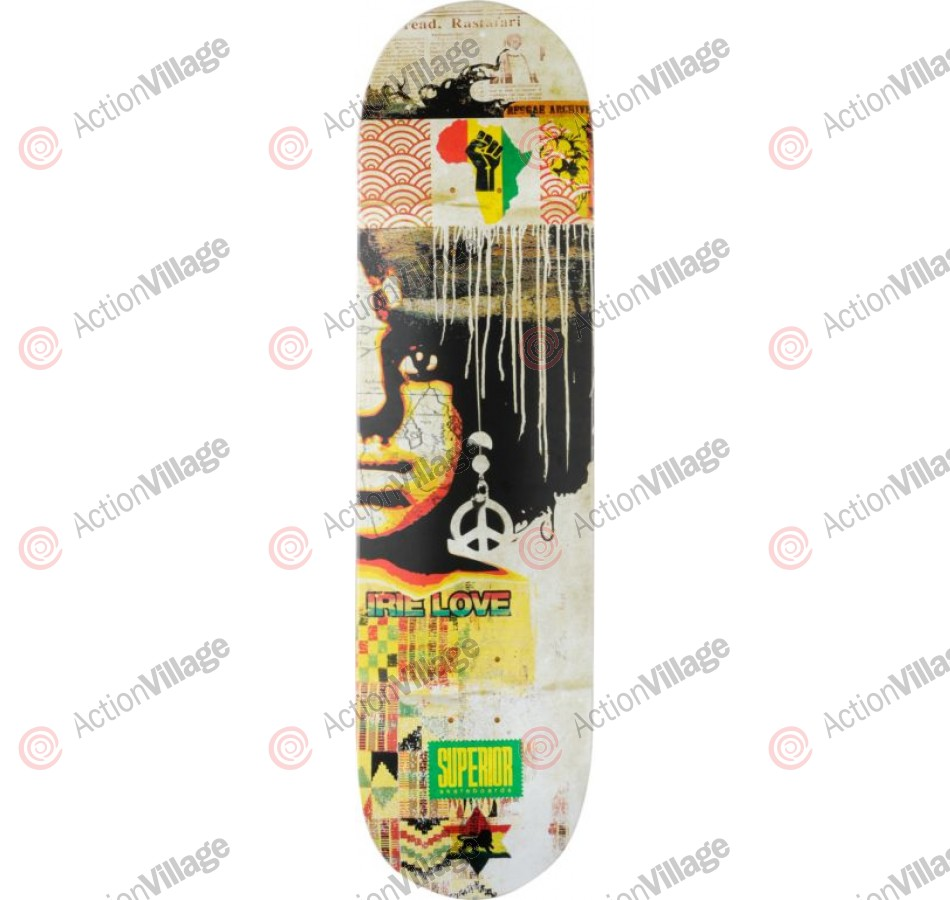 Superior Irie Love - White -  8.25 - Skateboard Deck
