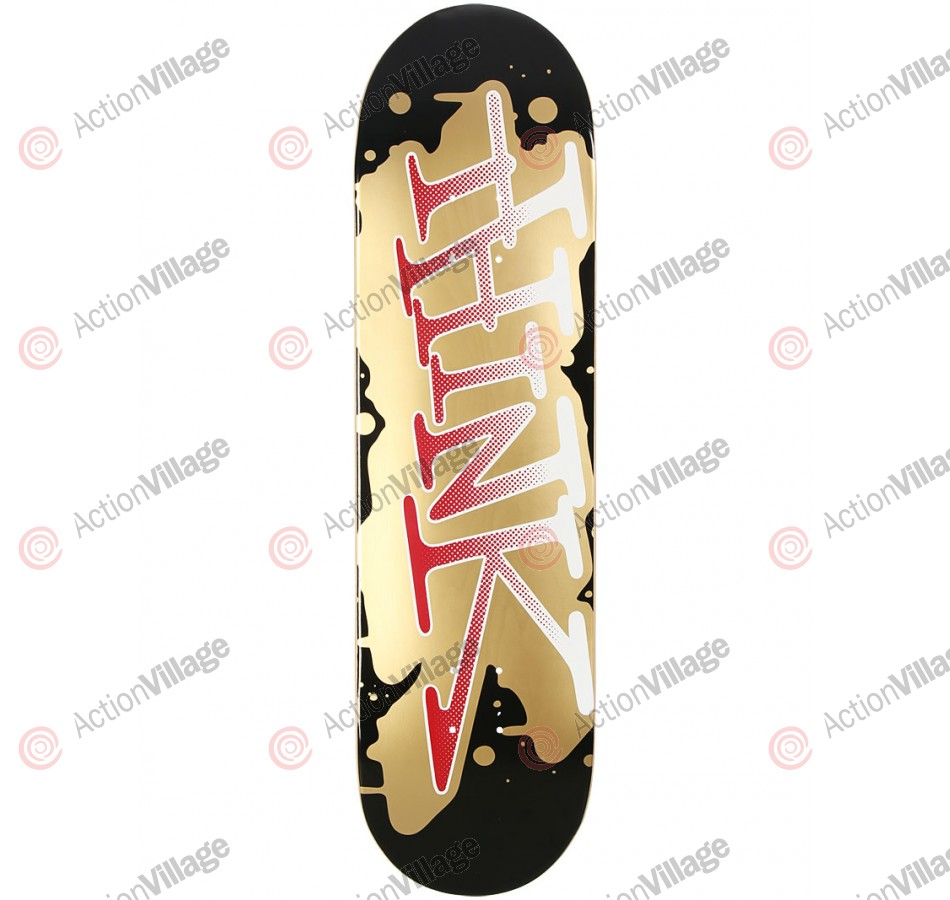 Think 'Spray Tag' Deck - Black/Gold - 8.5 - Skateboard Deck