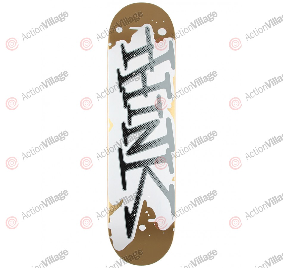 Think 'Spray Tag' Deck - Gold/White - 7.875 - Skateboard Deck