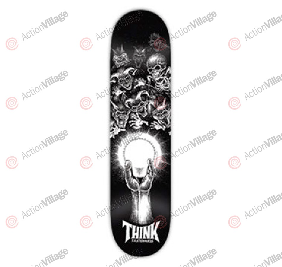 Think Logo Deck - Glowing Ghouls - 8.5 - Skateboard Deck